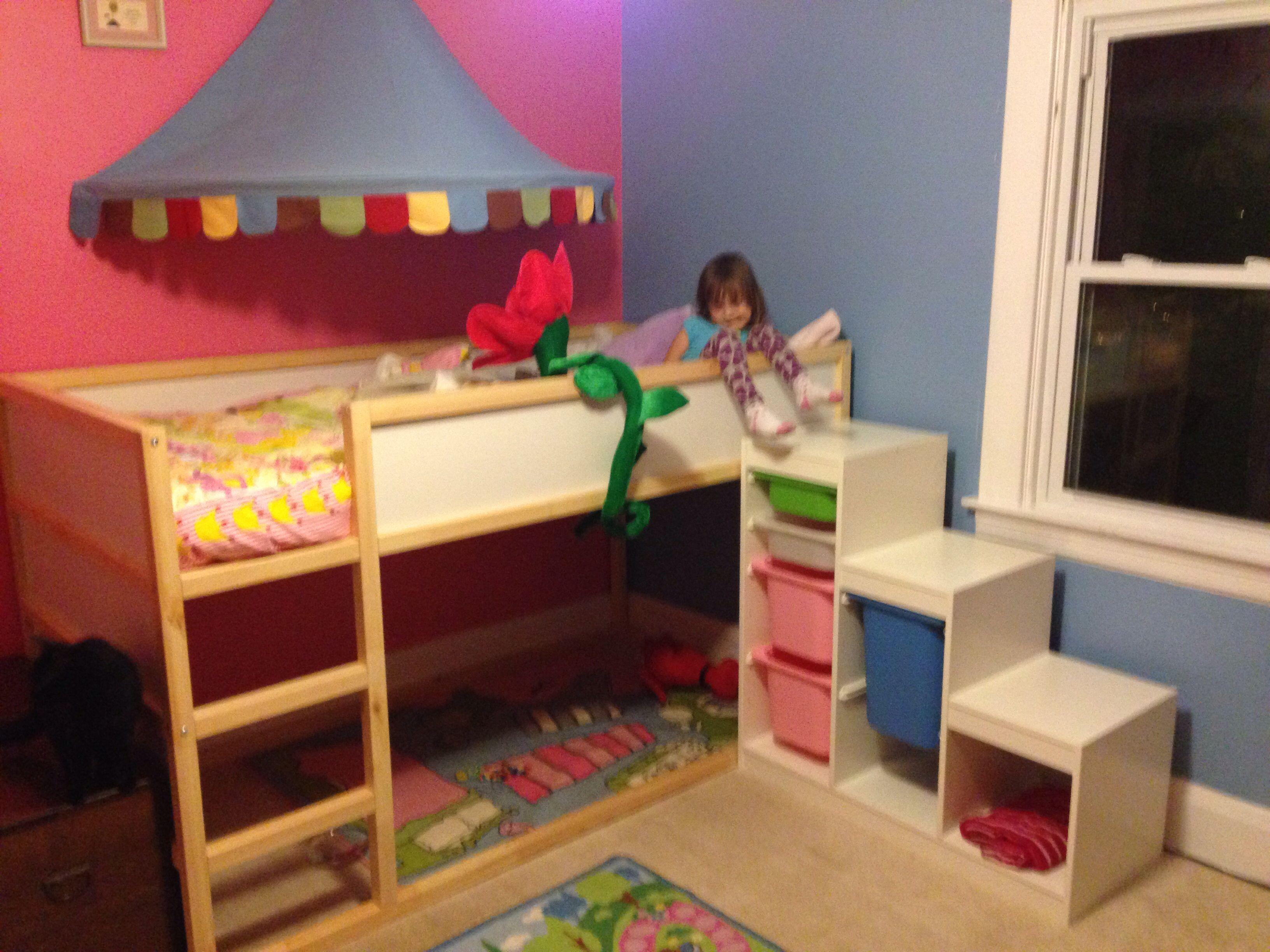 Ikea kura with trofast storage kids rooms pinterest for Ikea bunk bed kids