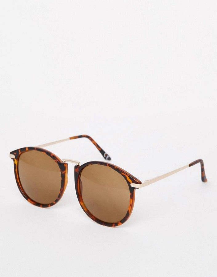 6560811047a8 ASOS Oversized Round Sunglasses With Fine Metal Nose Bridge ...