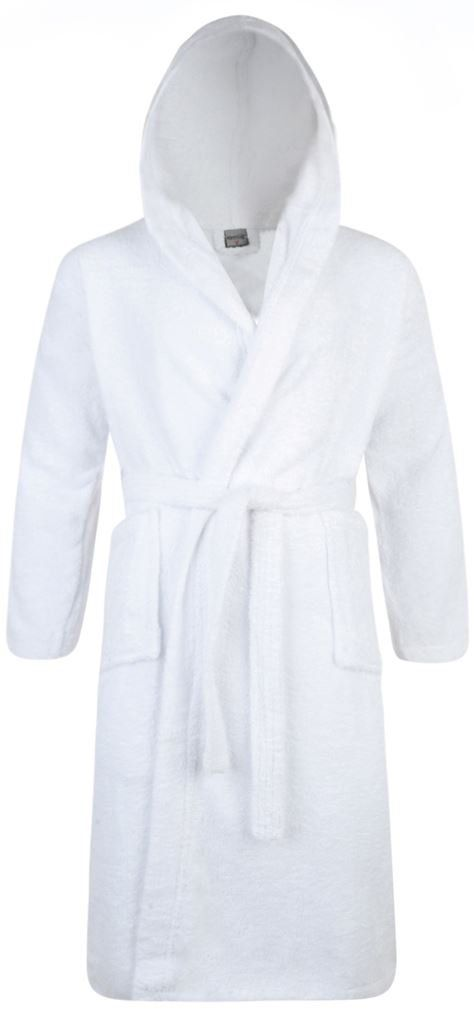 Mens & Ladies 100% Cotton Terry Towelling Hooded Shawl Collar ...