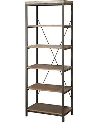 Homelegance N Holz Und Metall Bücherschränke Braune Farbe