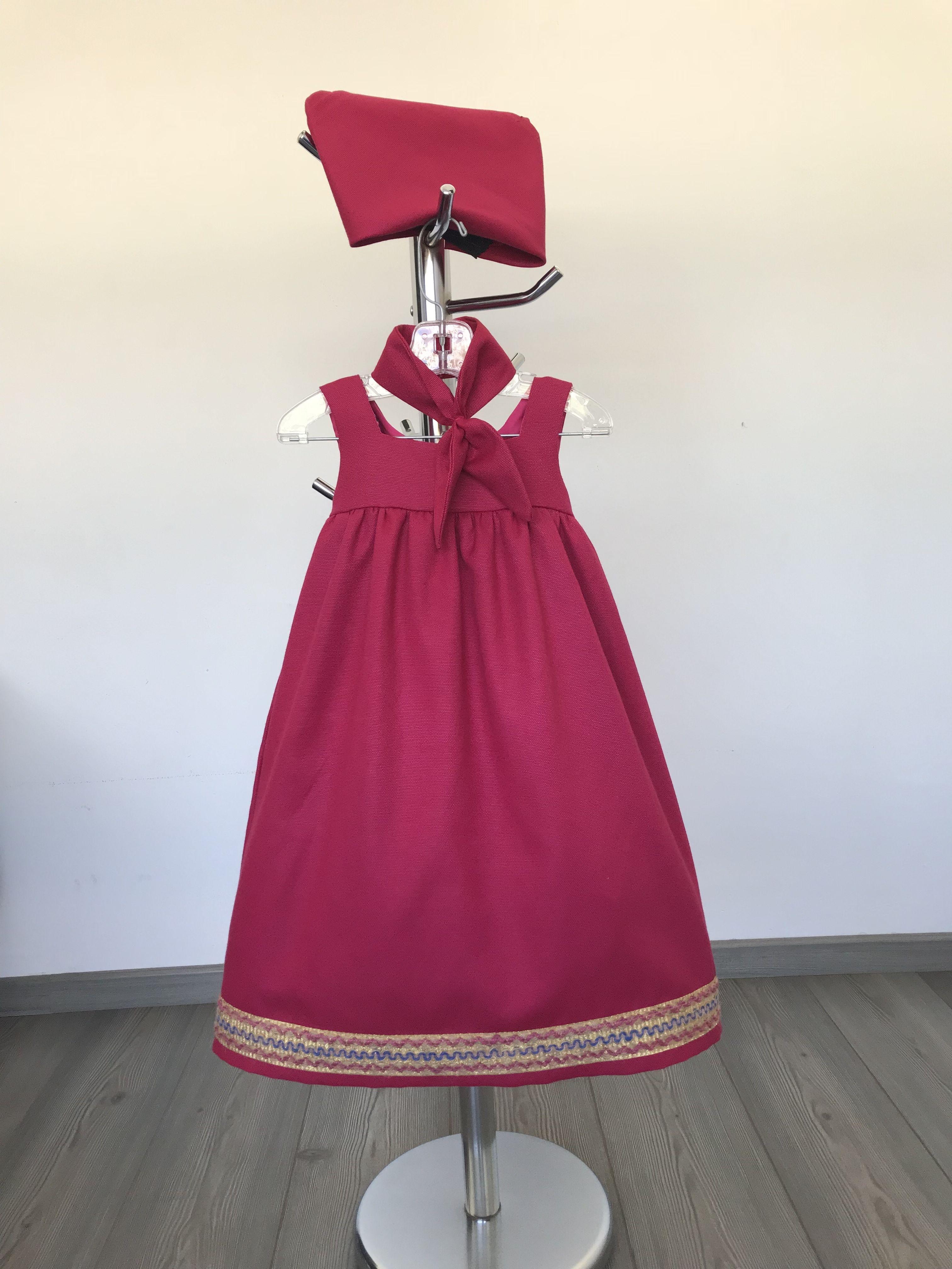 Vestido De Masha Y El Oso Material Gabardina Y Listones