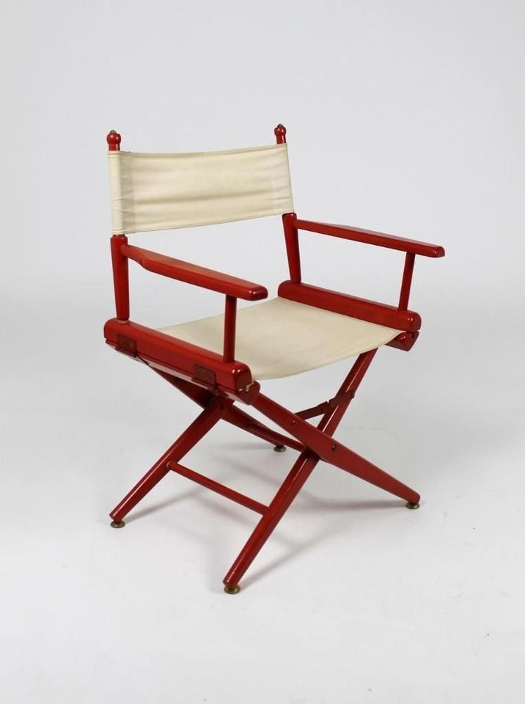 Remarkable Vintage Mid Century Directors Chair Folding Chair Ebay Ncnpc Chair Design For Home Ncnpcorg