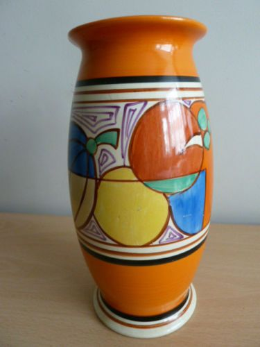 Large Clarice Cliff Vase Melons Pattern Clarice Cliff Pinterest