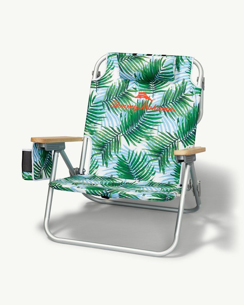 Palm Print Deluxe Backpack Beach Chair