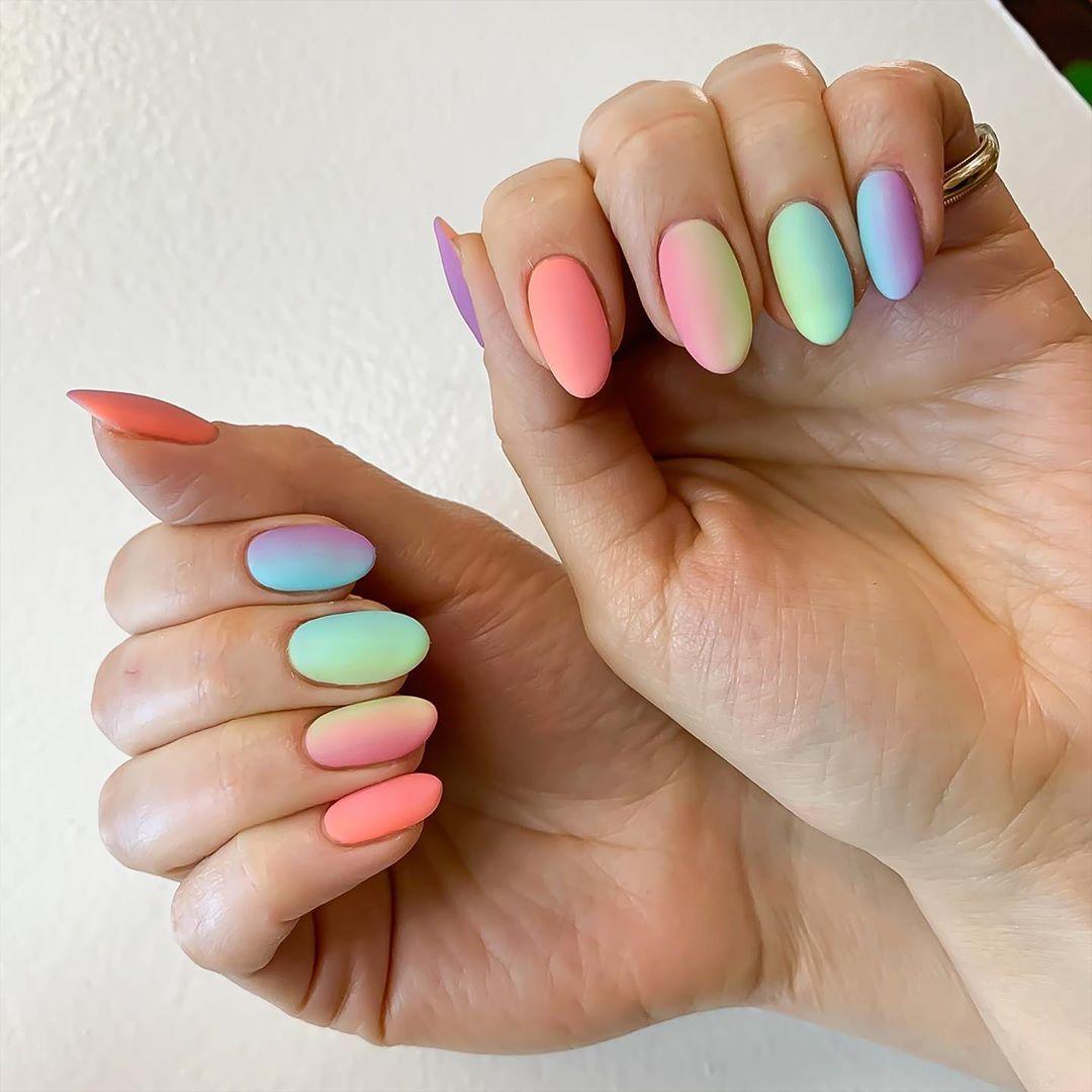 """Nails by Na on Instagram: """"#nail #nailpolish #nailsaddict #opi #nailsdid #nailsart #losangeles #silverlake #nail #bigapplered #matte #nails #nails💅 #nailsofinstagram…"""""""