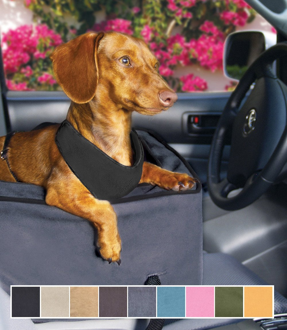 Console Dog Car Seat Microsuede