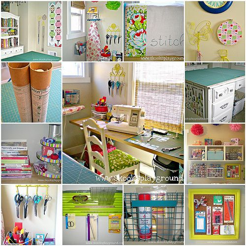 diy playground ideas | the best sewing/craft room organizing tips