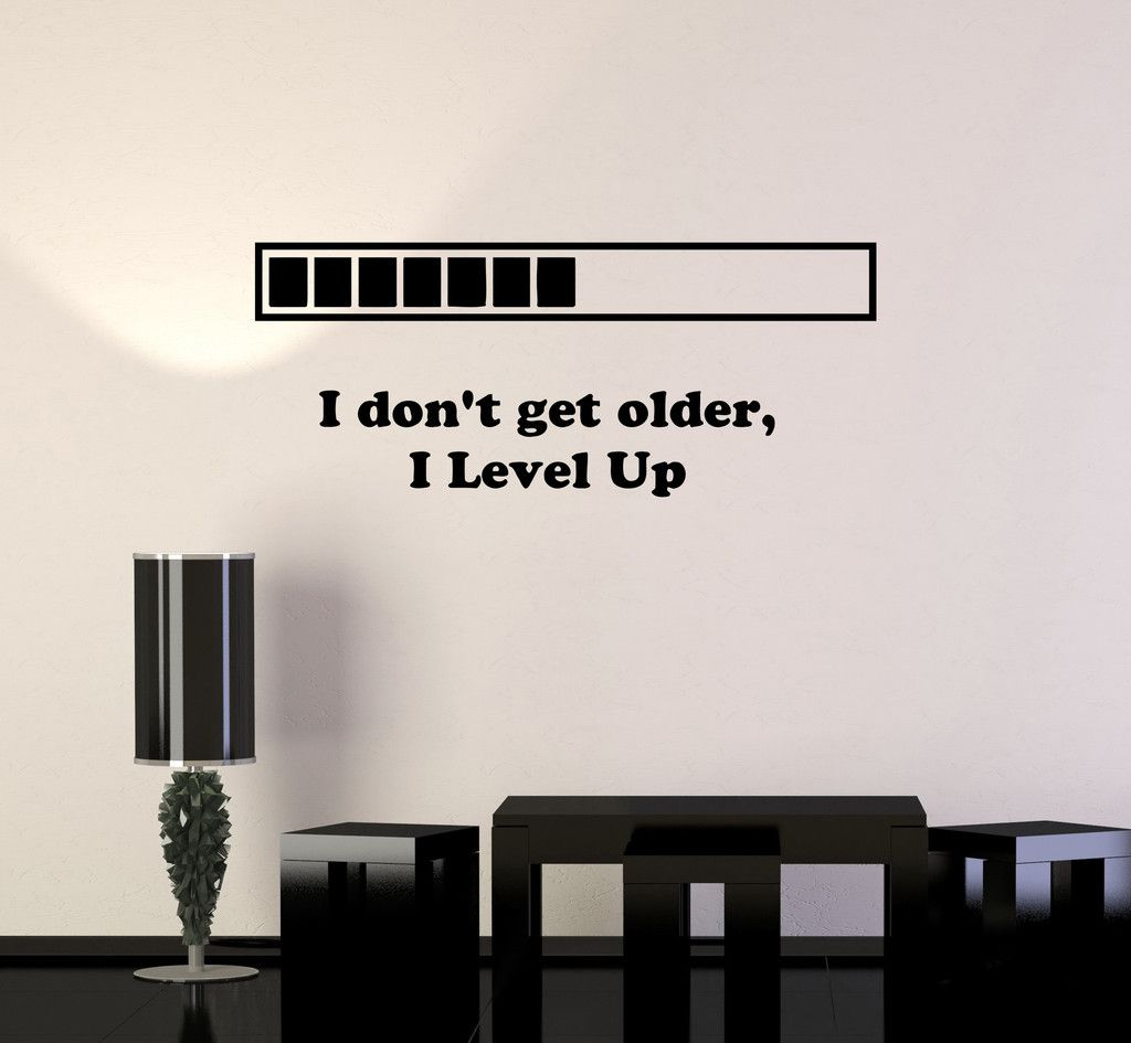 Vinyl Decal Quote Gaming Video Game Playroom Funny Decor Wall