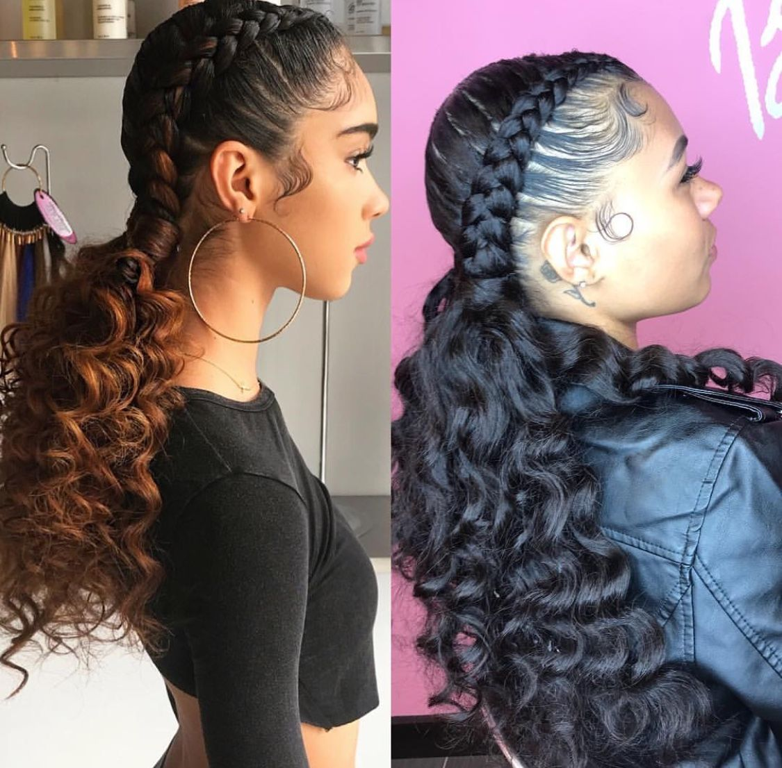 Pinterest Danicaa Natural Hair Styles Braided Hairstyles Two Braid Hairstyles