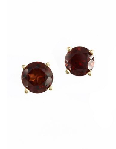 Effy 14K Yellow Gold and Garnet Earring Women's Garnet