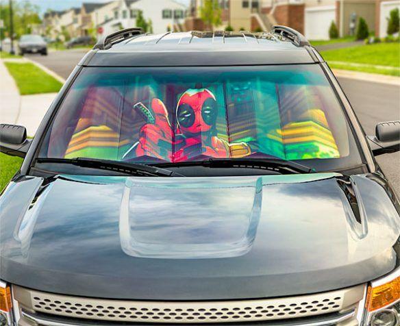Deadpool Thumbs Up Universal Sunshade  2d8e33b40ac