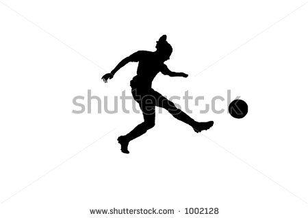 Silhouette Of A Female Soccer Player Kicking The Ball By Robert J Beyers Ii Via Shutterstock Female Soccer Players Soccer Players Soccer