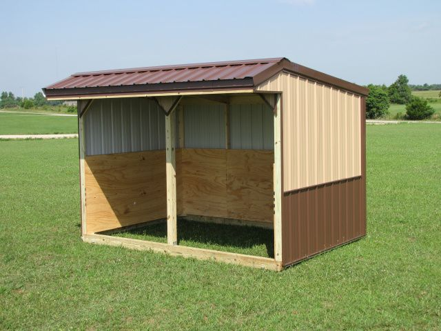 Portable Shelters Plans : Portable shed horse run in with tack and feed