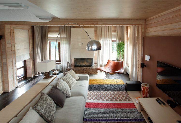 Faház friss, modern, természetes lakberendezés - 200m2-es, kétszintes otthon