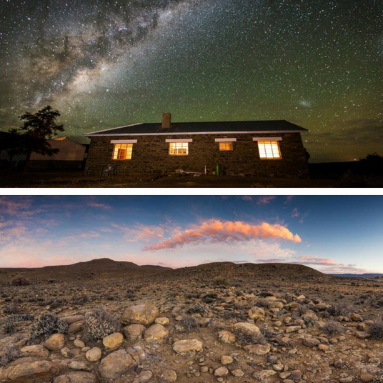 N Karoo Sterrehemel En Vars Lug Bied Eindelose Vrede Karoo Southafrica Freshair Stars Nature Guest House House Guest