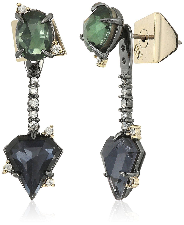 6adabc805 Amazon.com: alexis bittar fall 2017 double stone post with earrings jacket:  Jewelry