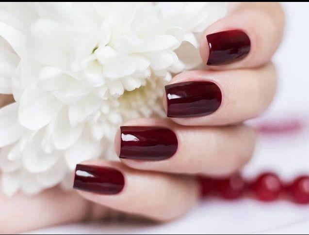 Manicure #merlot polish | At Your Fingertips | Pinterest