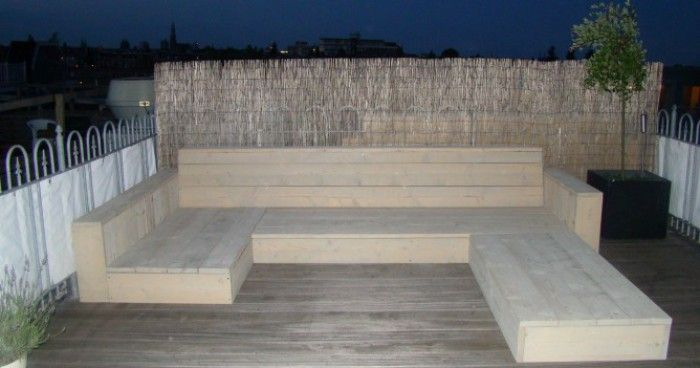 houten loungeset nieuw steigerhout gebeitst | diy woodwork in 2019