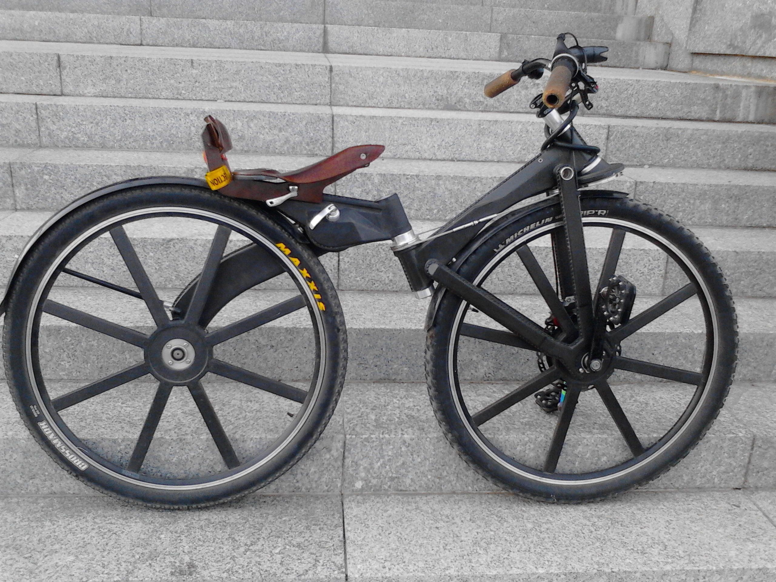 Folding 2wheel Drive Bike Without A Chain Folding Bike Trike