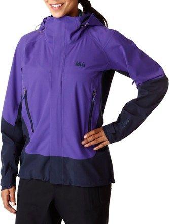 4c93a1308 REI Co-op Women's Talusphere Rain Jacket Sapphire Purple S ...