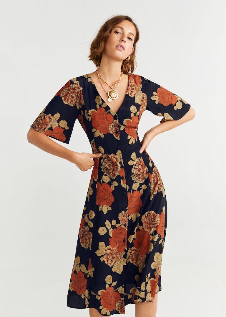 Mango Midi Dress Womens Floral Dress Floral Midi Dress Floral Dress Casual
