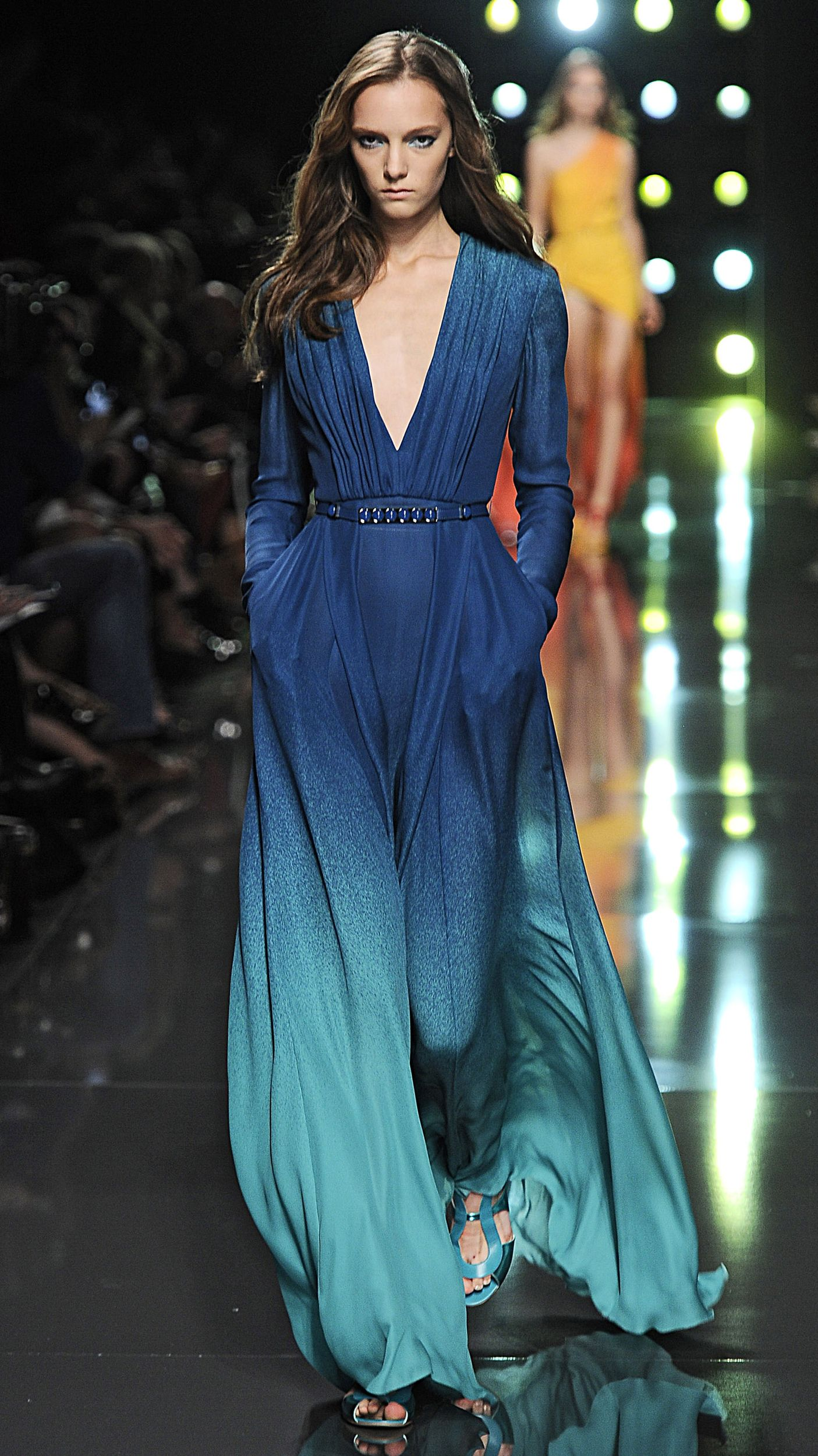Elie Saab Spring 2015 is glamorous with a touch of edge... we\'re ...