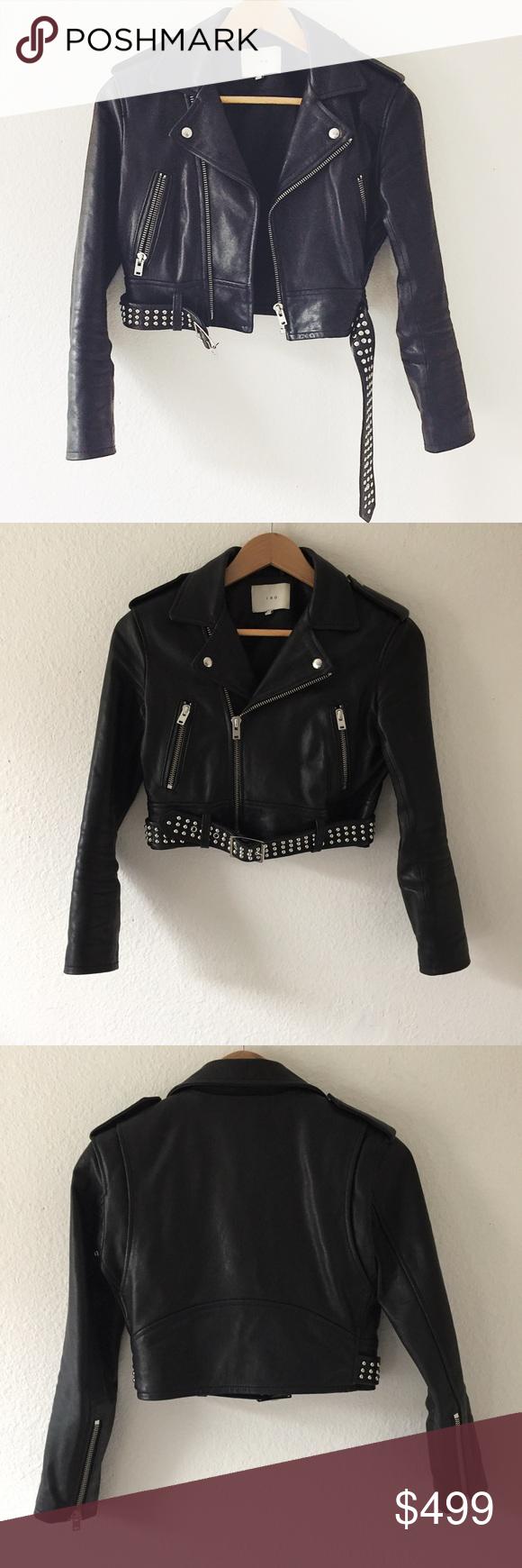 Iro Zekine Cropped Black Leather Jacket Celebrity Favorite The Iro Zekine Jacket Has Been Seen On Hailey Baldwin And Christina Aguilera Cropped Close Fit With [ 1740 x 580 Pixel ]