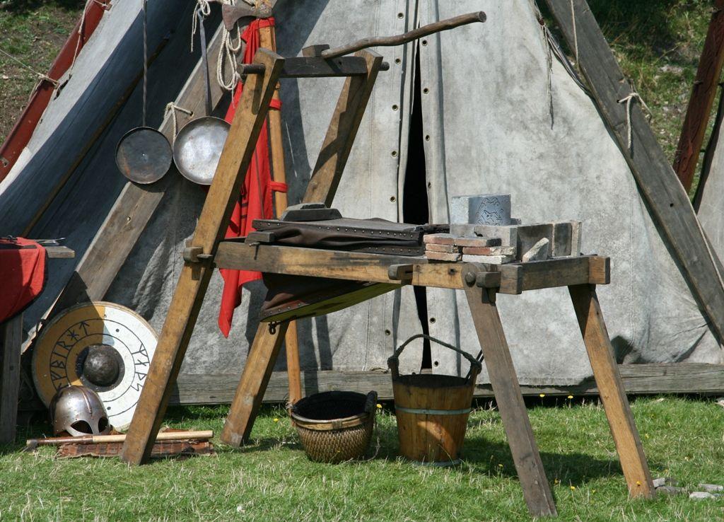 Viking Forge By Doppelfrog Vikings Blacksmithing Camp Furniture