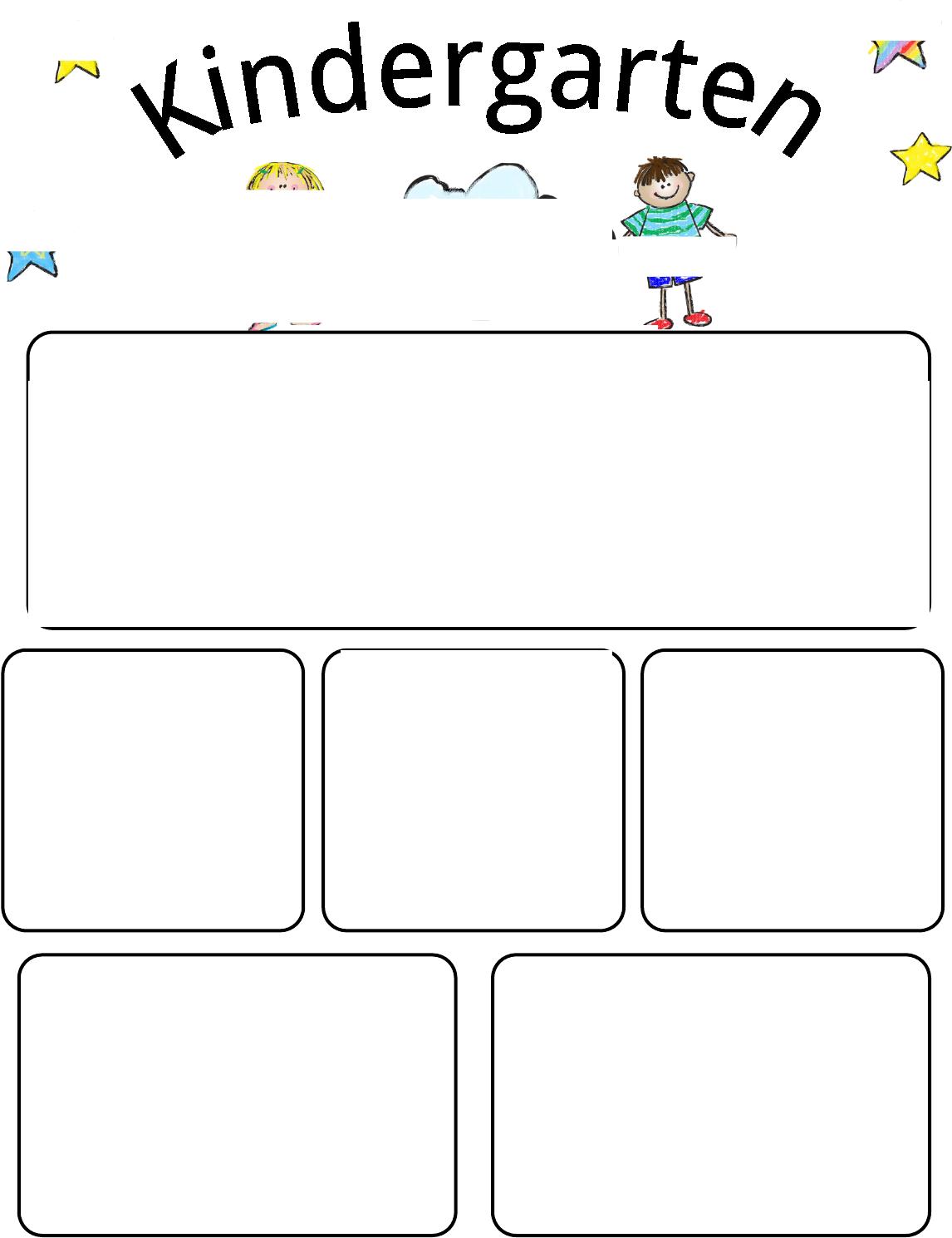 kindergarten newsletter template 1 for free tidyform | kids