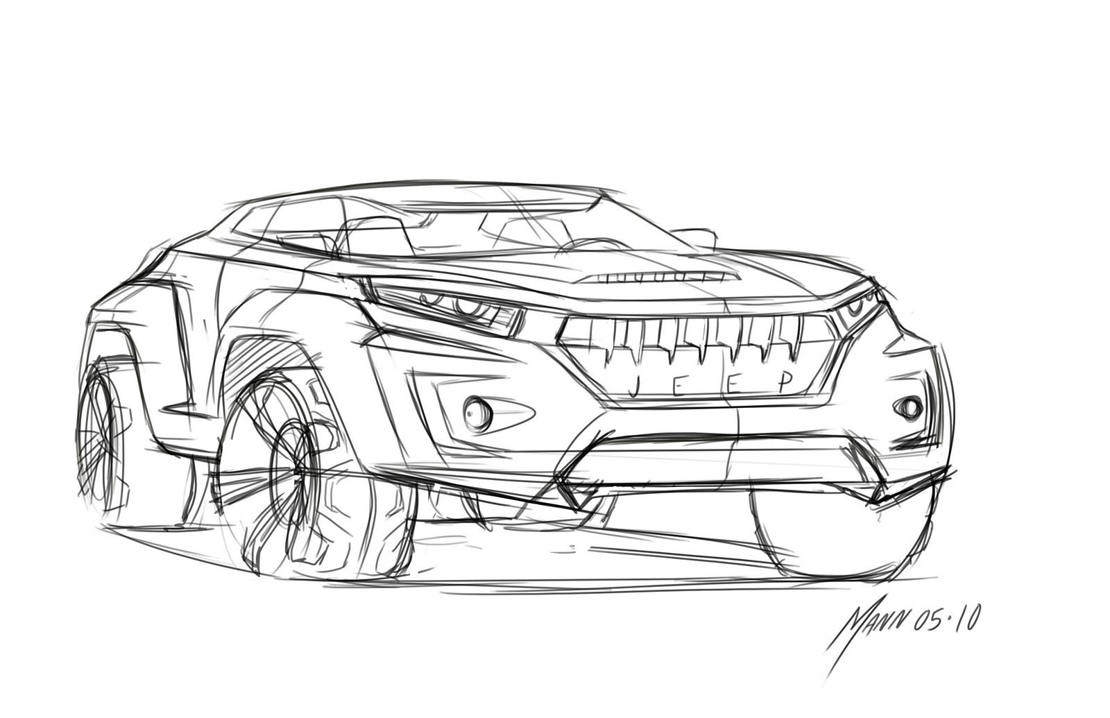 jeep concept vehicle drawing from we draw cars  may 2010