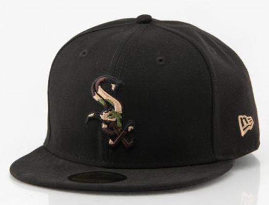 Custom NEW ERA x MLB「Chicago White Sox Camo Fill」59Fifty Fitted Baseball Cap 257aee8e38d