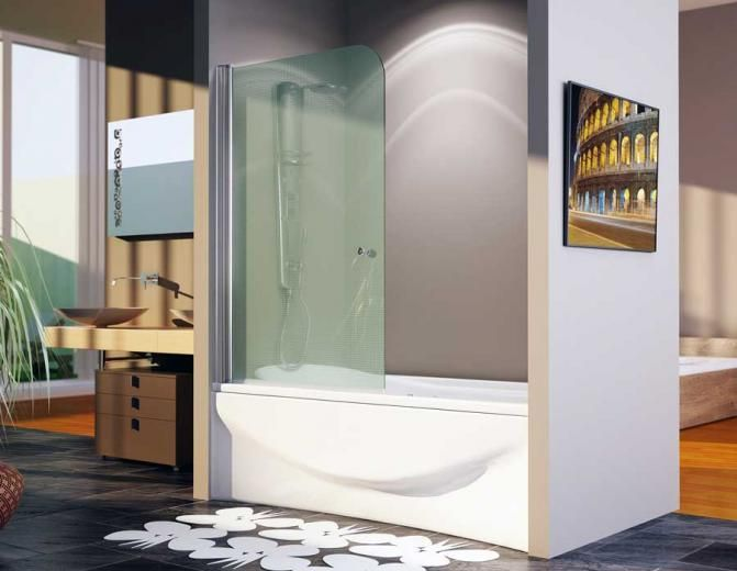 Mampara de ba o de cristal idhra muebles de ba for Mobiliario jardin segunda mano