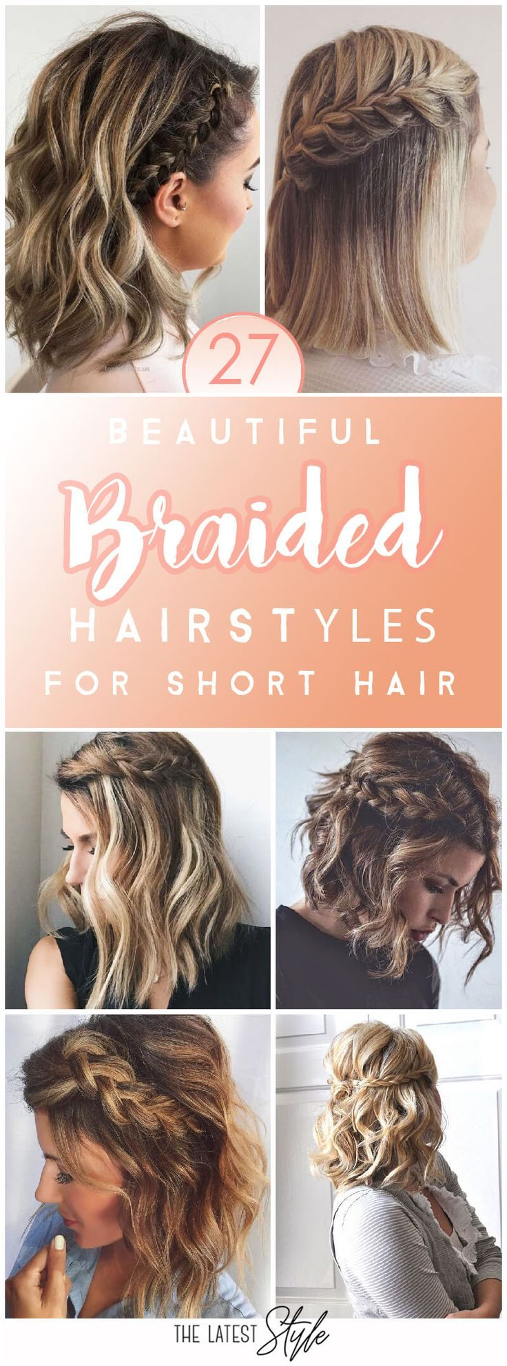 10 schöne und frische Zopf Frisur Ideen für kurze Haare # 10