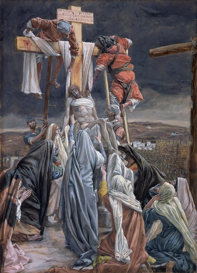 El Descenso De La Cruz Por James Tissot Arte Biblico Arte Católico Arte De Jesús