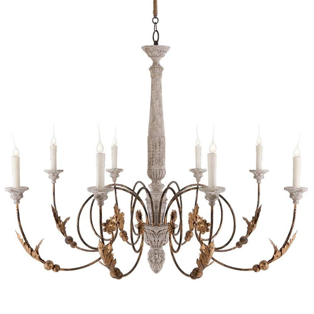 Pauline Large French Country 8 Light Curled Iron Arm Chandelier French Country Chandelier French Country Lighting Country Chandelier