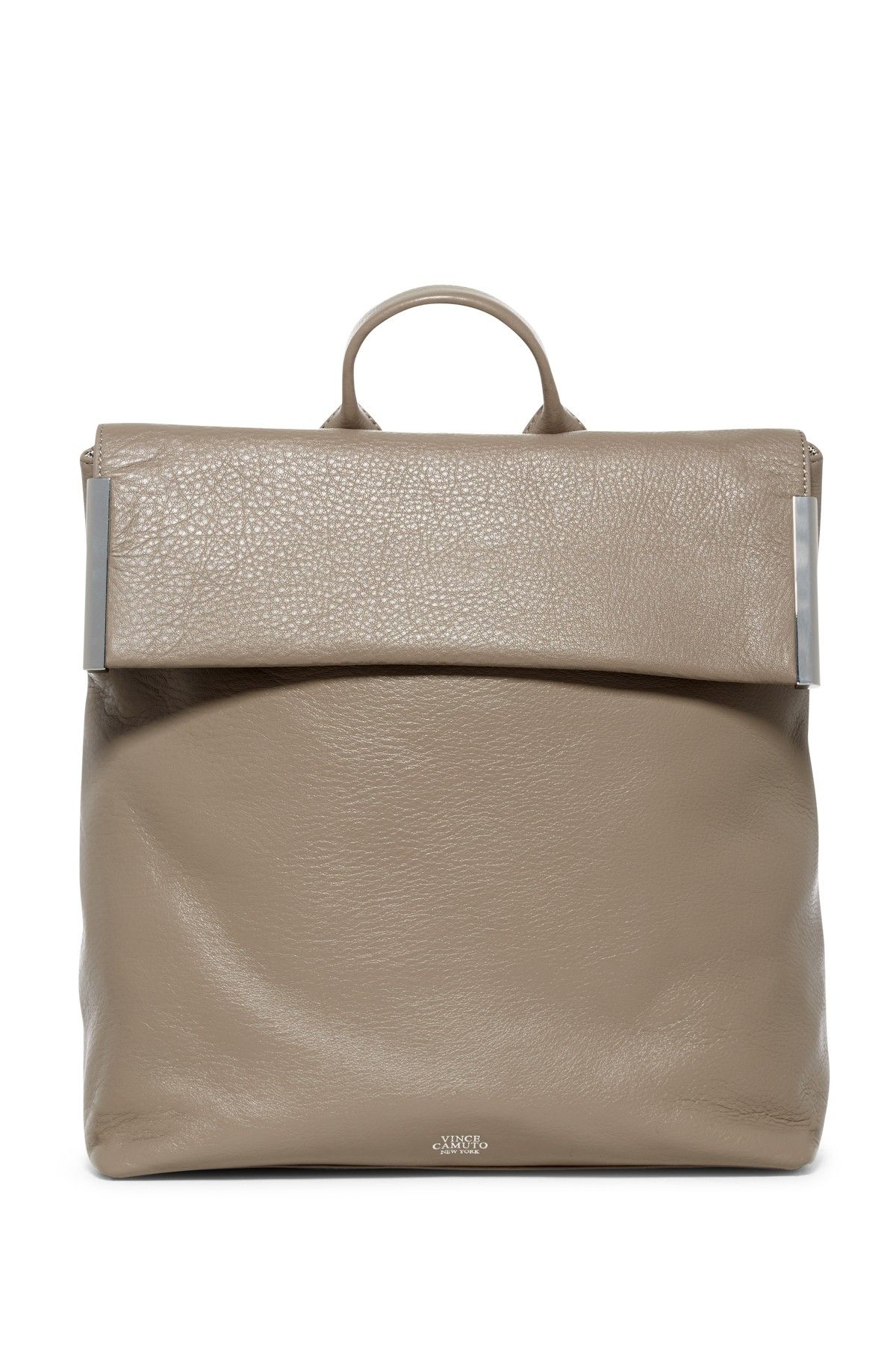 Tina Leather Flap Backpack