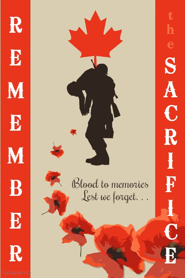 Remembrance Day Poster Template  Remembrance Day Poster