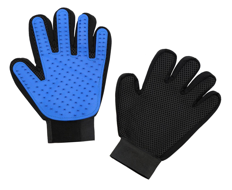 Pet Grooming Gloves Hair Removal Mitt Gentle Deshedding