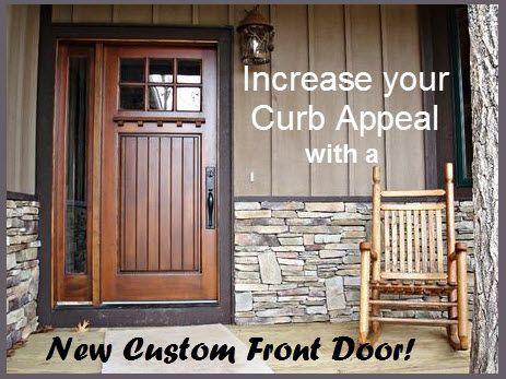 Curb Appeal Quick Fix A New Front Door Pinterest Curb Appeal
