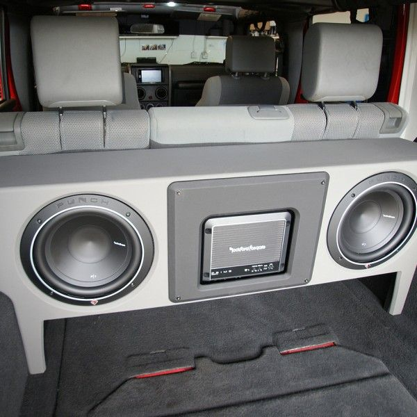 2007 to 2015 jeep wrangler unlimited jku dual 10 inch subwoofer box rh pinterest com jeep wrangler jk custom sub box jeep wrangler jk custom sub box
