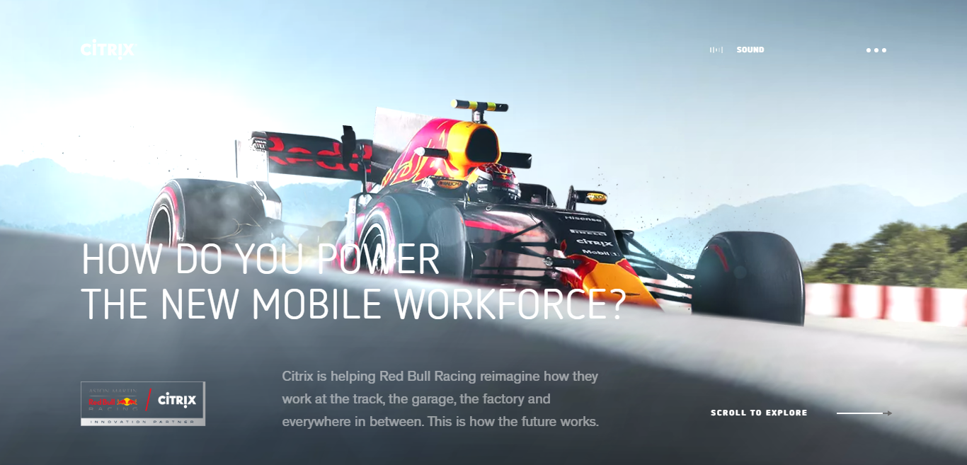 Red Bull Racing Citrix | This is how the future works