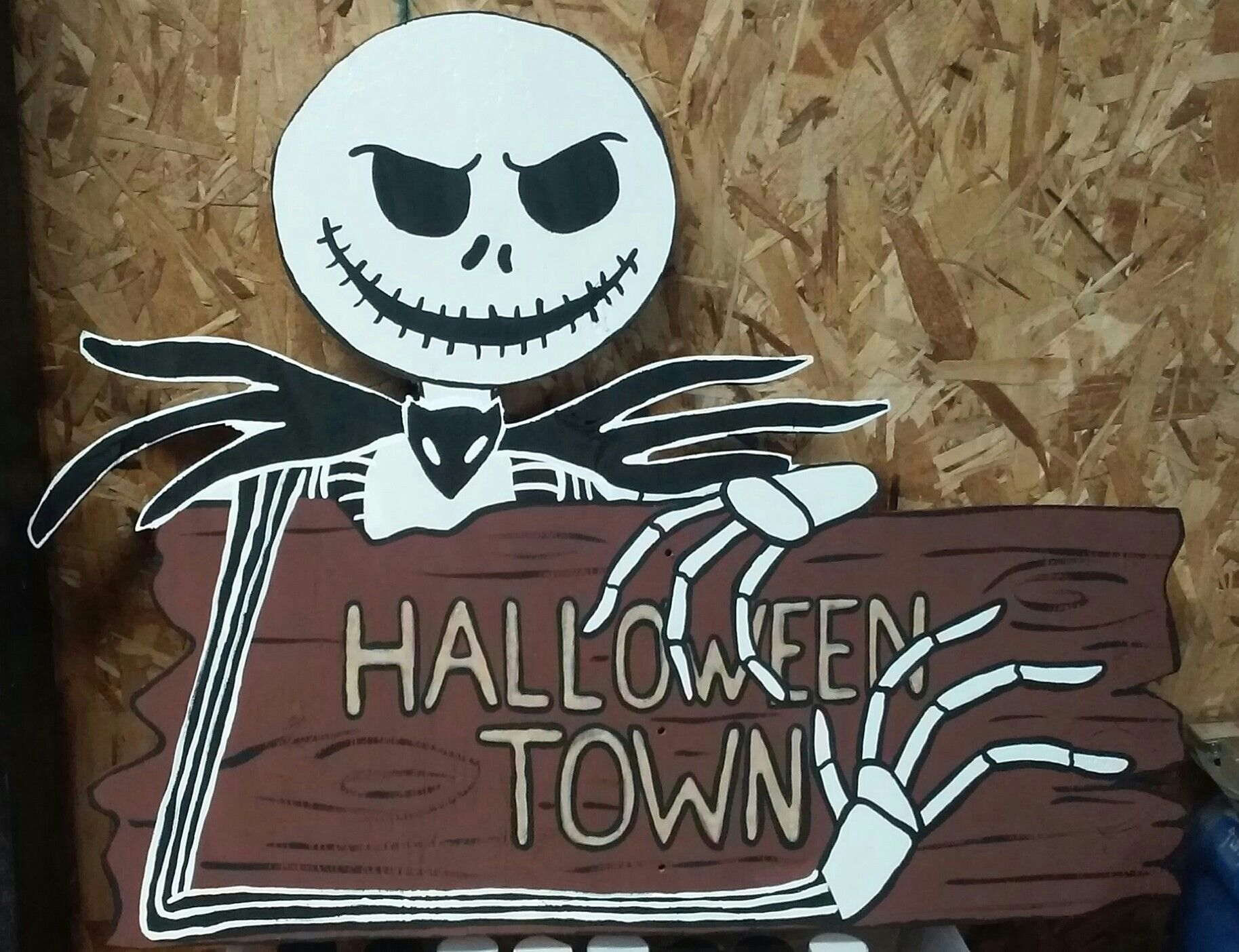 jack skellington from the nightmare before christmas halloween town sign