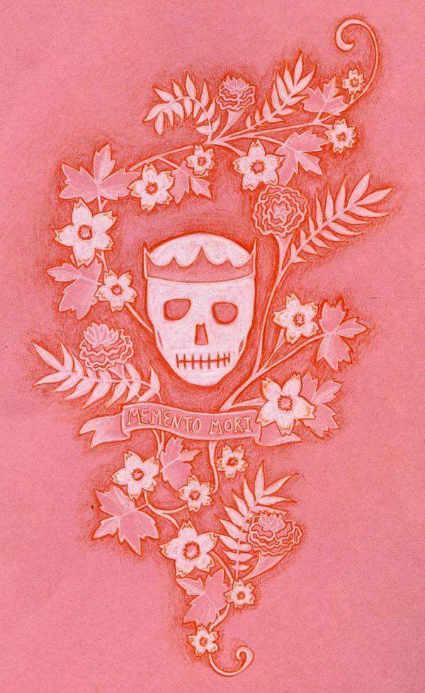 Memento mori tattoo design by RiskALittleLight.deviantart.com