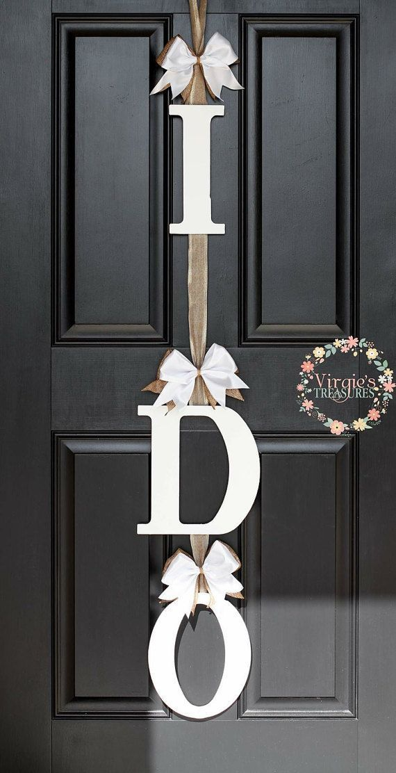 Bridal Shower Decoration, Bridal Shower Gift,I DO Bridal Shower Door Decoration-I DO Door Hanger-Wedding Keepsake-Engagement Party decor