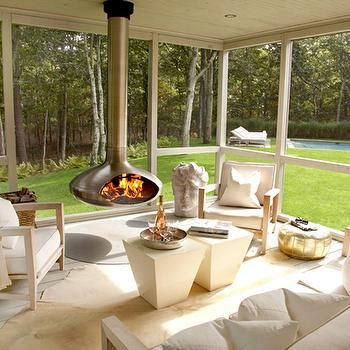 screen porch fireplace. Screened Porch with Fireplace  Contemporary deck patio Paul Davis New York
