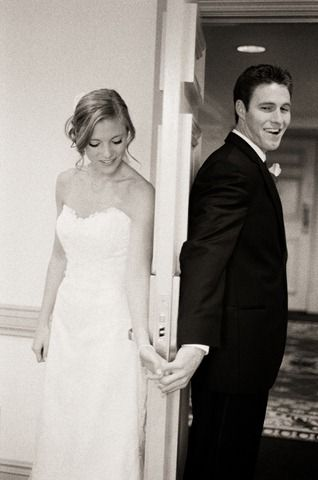 I might have to do this. But I think I want photos before the wedding. Who knows. But this idea is so cute!