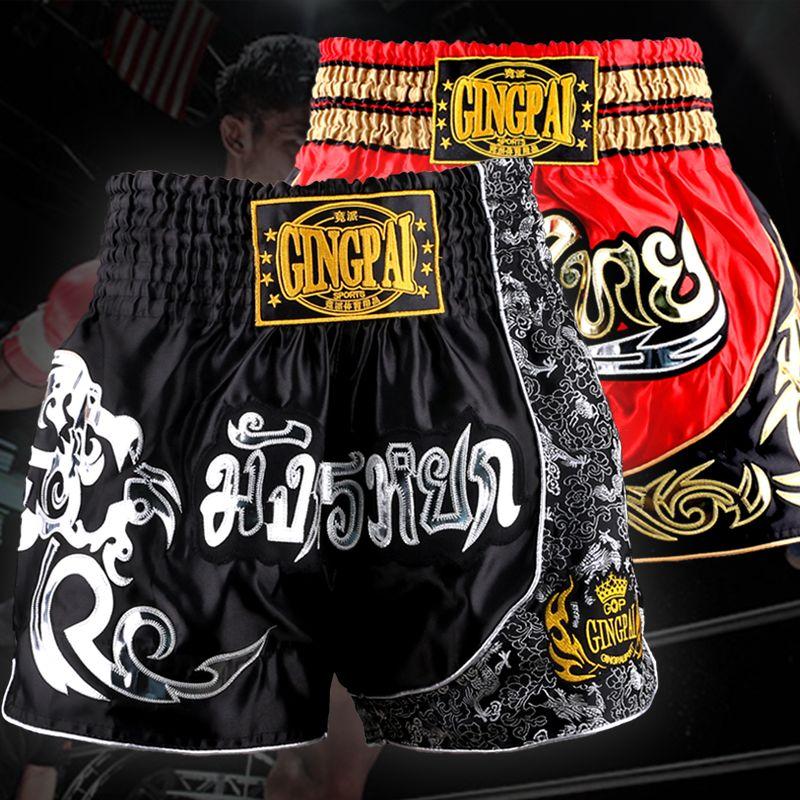 MMA Fighting Shorts Martial Arts Muay Thai Kickboxing Sport Pants Boxing Men