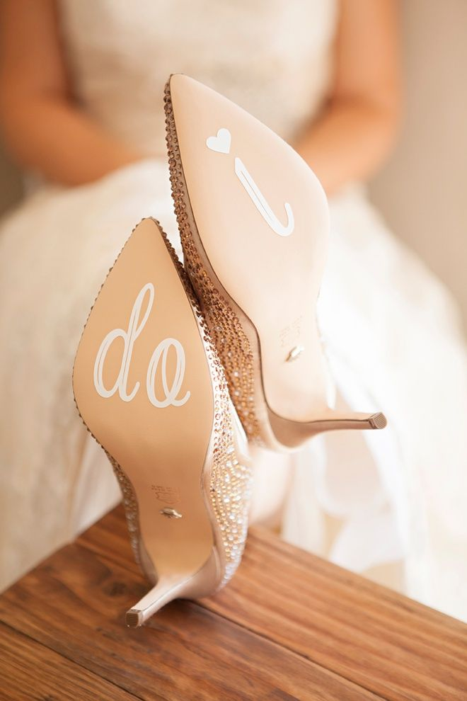1b58dea3d4add Learn how to make your own custom, wedding shoe stickers! | Bloggers ...
