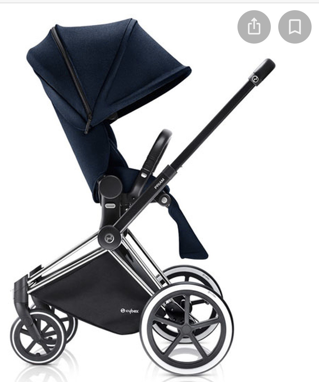 Cybex Priam One Box Stroller W/Lux Seat Midnight Blue or