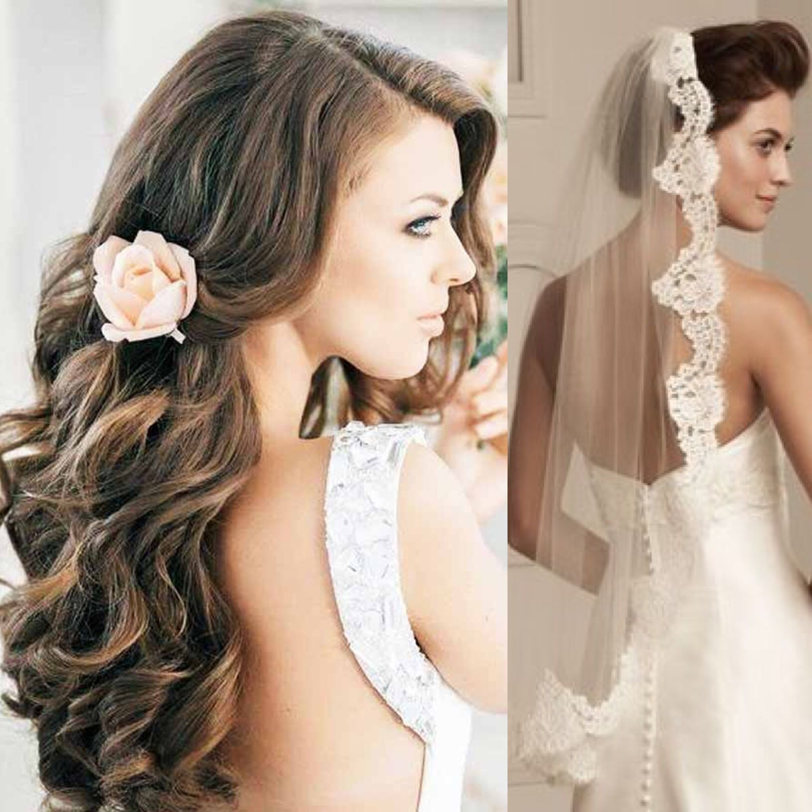 Hairandveil someday curls lace everythinglovely